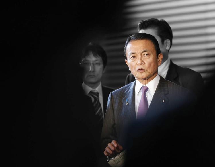 Político japonés enojado